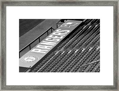 Rangers Black White Framed Print by Malania Hammer