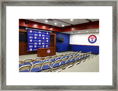 Rangers Press Room Framed Print by Ricky Barnard