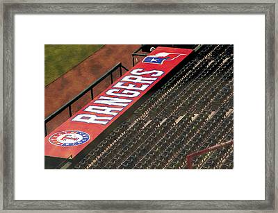 Rangers Watercolor Framed Print by Malania Hammer
