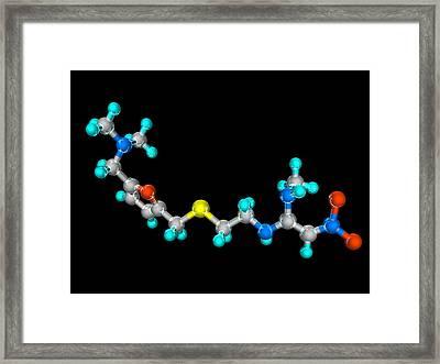 Ranitidine Drug Molecule Framed Print by Laguna Design