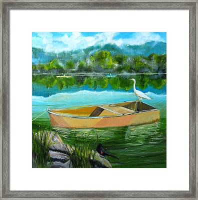 Rare Moment At Spring Lake Framed Print by Terrence  Howell