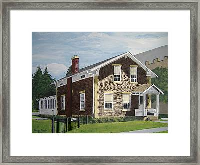 Framed Print featuring the painting Rasey House by Norm Starks