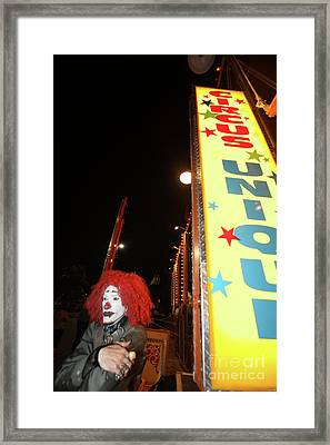 Rash The Clown  Framed Print by Diane Falk