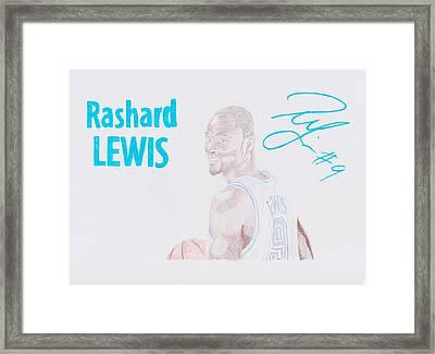 Rashard Lewis Framed Print by Toni Jaso