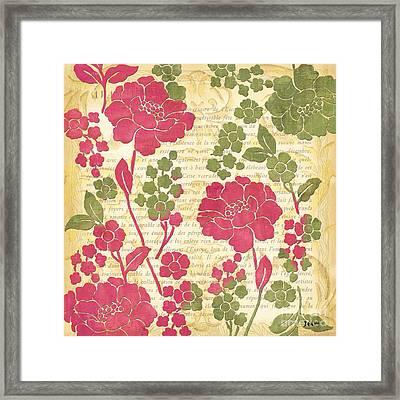 Raspberry Sorbet Floral 1 Framed Print by Debbie DeWitt