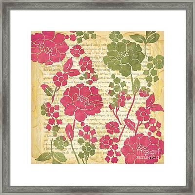 Raspberry Sorbet Floral 2 Framed Print