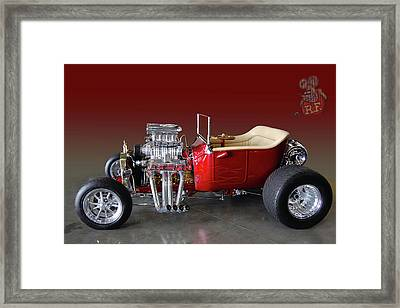 Rat Fink Bucket Framed Print by Bill Dutting