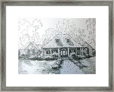 Framed Print featuring the drawing Rathe's Home by Gretchen Allen