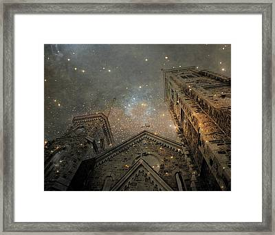 Magical Rattling Sky Framed Print by Gothicrow Images