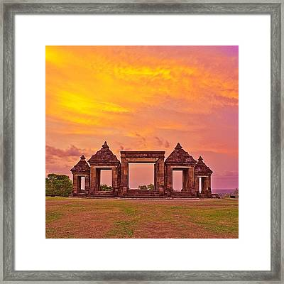 Ratu Boko Is An Archaeological Site Framed Print