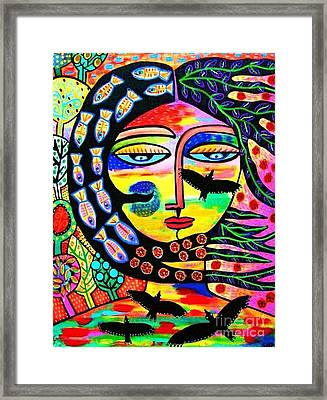 Raven Goddess Framed Print