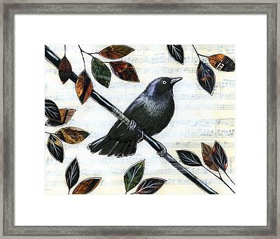 Raven Melody Framed Print