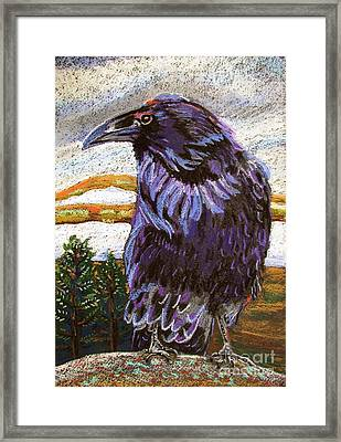 Raven Spirit Framed Print by Harriet Peck Taylor
