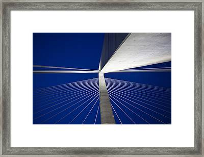 Ravenel Overhead Night - Horizontal Framed Print by Donni Mac