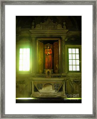 Ravenna Italy - Sant Apollinare Nuovo - Jesus Christ Framed Print by Gregory Dyer