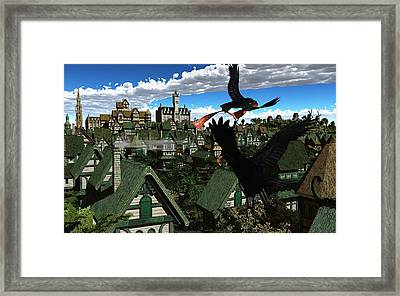 Ravens Flight Framed Print