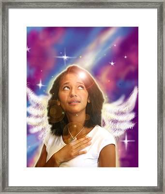 Ravert. Angelic Framed Print