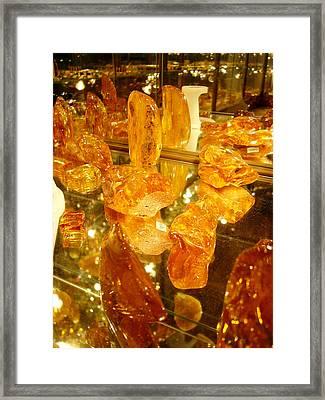 Raw Amber Framed Print by Aleksandr Volkov