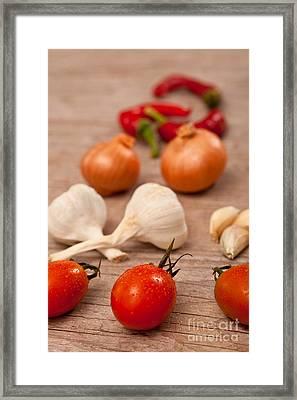 Raw Fresh Spices Framed Print by Sabino Parente