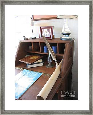 Framed Print featuring the photograph Raw Rivah House Photo by Nancy Dole McGuigan
