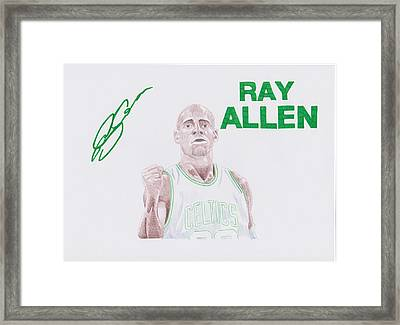 Ray Allen Framed Print by Toni Jaso