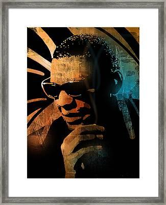 Ray Charles Framed Print by Paul Sachtleben