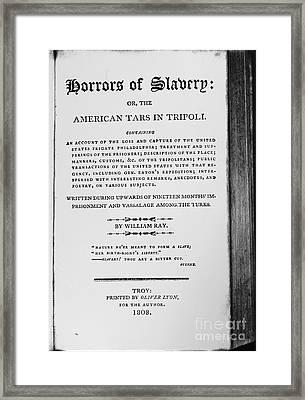 Ray: Horrors Of Slavery Framed Print by Granger