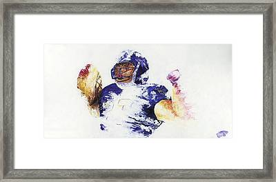 Ray Rice Framed Print by Ash Hussein