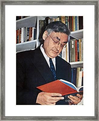 Raymond Queneau (1903-1976) Framed Print by Granger