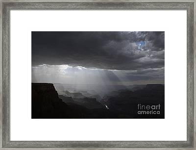 Rays In The Canyon Framed Print