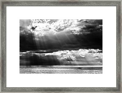 Rays Of Light Framed Print by Mike Rivera