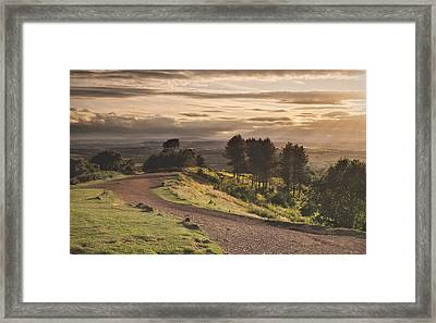 Rays Of Sunlight Over Clent Countryside Framed Print by Verity E. Milligan