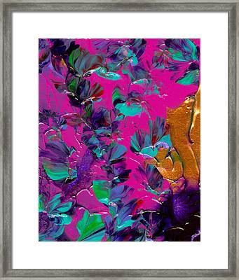 Razberry Ocean Of Butterflies Framed Print by Nan Bilden
