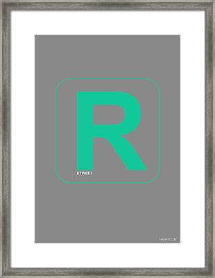 Re Tweet Poster Framed Print