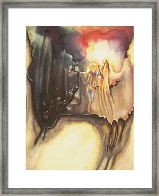 Reaching For Healing Light Framed Print