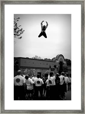 Reaching For The Sky In Black And White Framed Print by Tam Graff