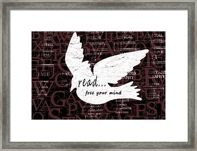 Read Free Your Mind Brick Framed Print