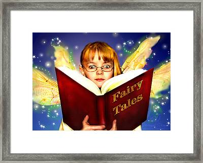 Framed Print featuring the photograph Read More Fairy Tales by Nada Meeks