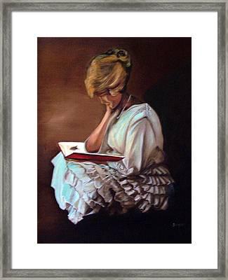 Reading Framed Print by Joyce Reid