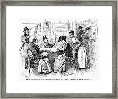 Reading Letters, 1890 Framed Print