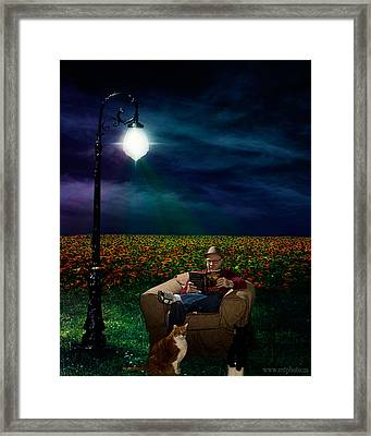 Reading Light Framed Print by Michael Taggart