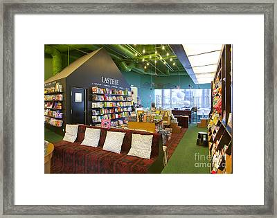 Reading Room In A Bookstore Framed Print by Jaak Nilson