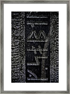 Reading Stones Framed Print by Odd Jeppesen