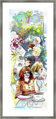 Reading The News 08 Framed Print by Miki De Goodaboom