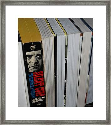 Reading With Dick Framed Print