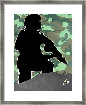 Ready For Battle II Framed Print by Jessica Cruz
