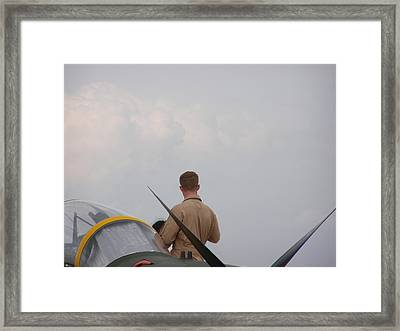 Ready For Flight Framed Print by Cathy Curreri