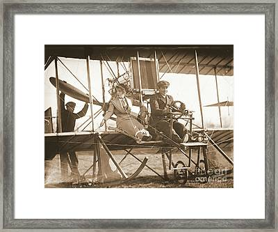 Ready For Takeoff 1912 Sepia Framed Print by Padre Art
