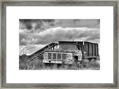 Ready For The Harvest Bw Framed Print by JC Findley
