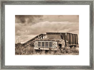 Ready For The Harvest Sepia Framed Print by JC Findley